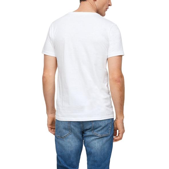 Schmales Jerseyshirt in Unicolor - T-Shirt