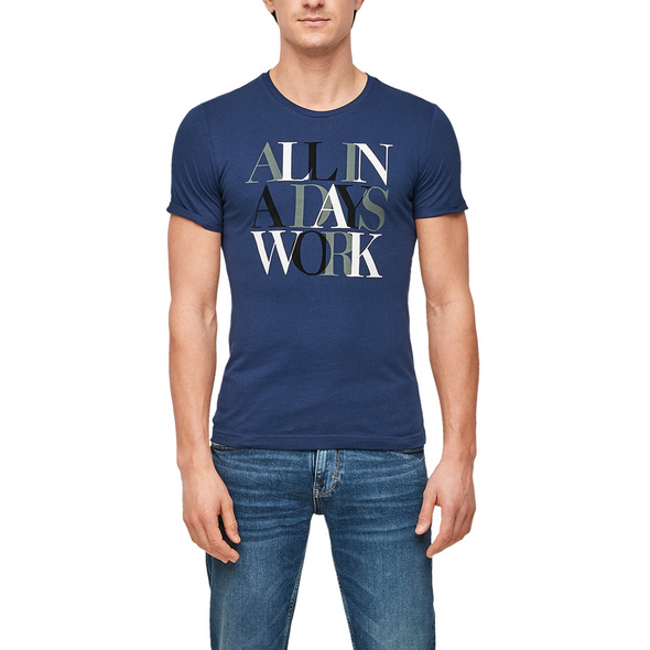 T-Shirt mit Schriftzug - Jerseyshirt