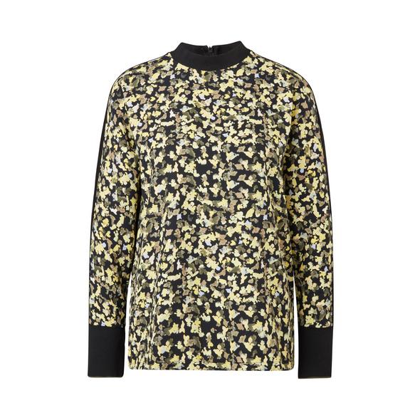 Jerseyshirt mit Crêpe-Front - Fabric-Mix-Shirt