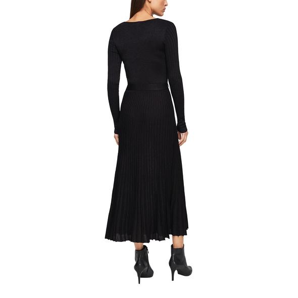 Strickkleid mit Plisseestruktur - Feinstrick-Kleid