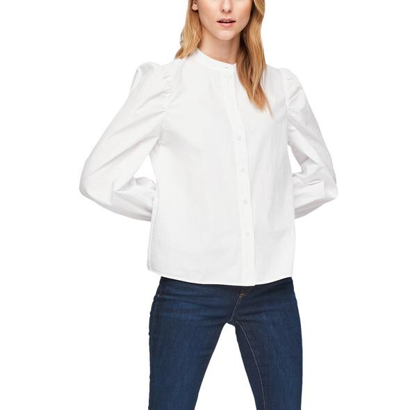 Baumwollbluse mit Puffärmeln - Bluse