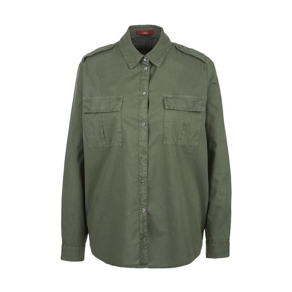 Bluse mit Perlmuttknöpfen - Bluse