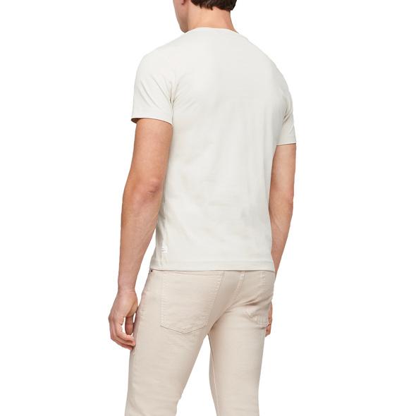 Baumwollshirt mit Schriftprint - Jerseyshirt