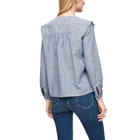 Leinenmix-Bluse im femininen Look - Leinenmix-Bluse
