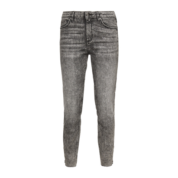 Skinny Fit: 7/8-Jeans mit Waschung - Stretchjeans