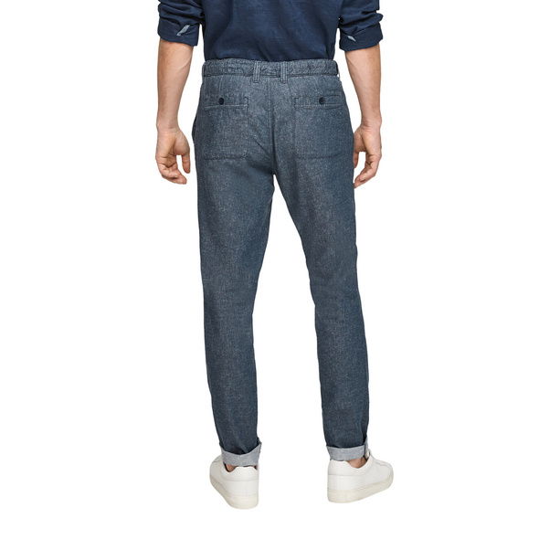 Relaxed Fit: Hose mit Leinen - Hose