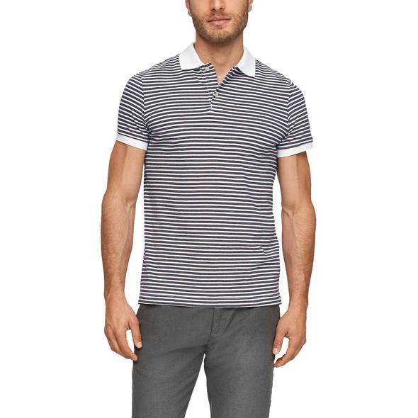 Poloshirt mit Streifenmuster - Poloshirt