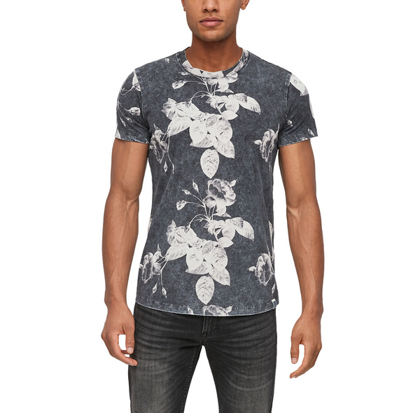 Jerseyshirt mit floralem Print - T-Shirt