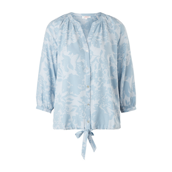 Tunikabluse mit Allovermuster - Viskose-Bluse