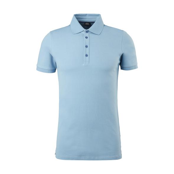 Piqué-Poloshirt aus Baumwollstretch - Poloshirt