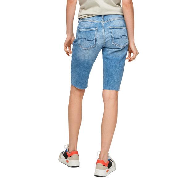 Slim: Jeansshorts mit Fransen - Shorts