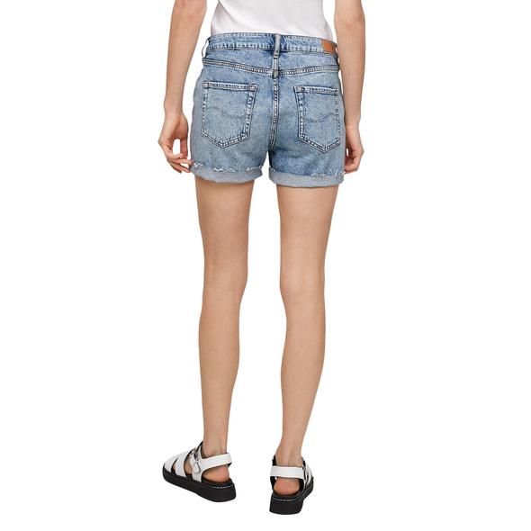 Regular Fit: Shorts mit Strass - Denim