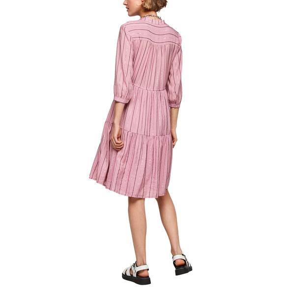 Stufenkleid mit Glitzerstreifen - Kleid