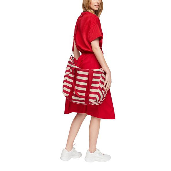 Gestreifter Shopper aus Baumwolle - Tasche