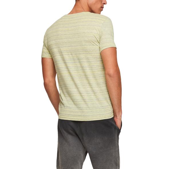 T-Shirt mit Flammgarnstruktur - Jerseyshirt