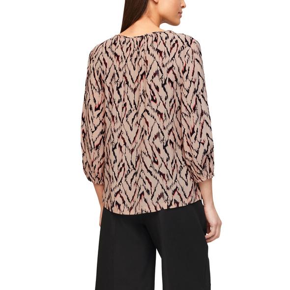 Tunikabluse mit Allover-Print - Bluse