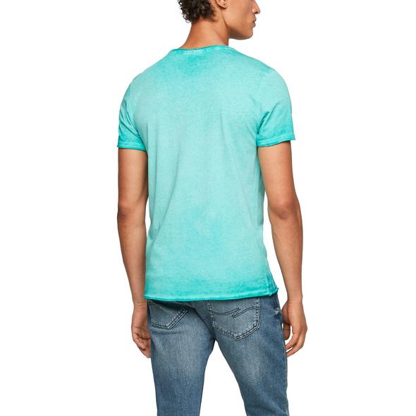 T-Shirt mit offenen Kanten - T-Shirt
