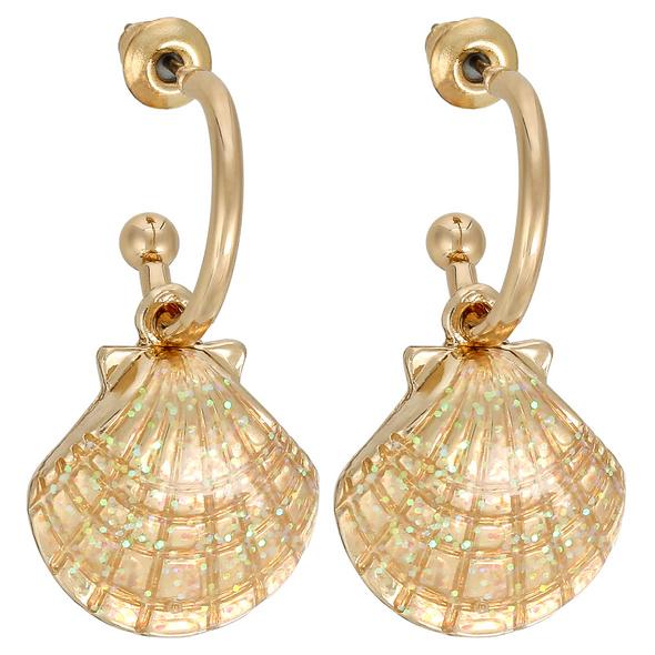 Creolen - Glitter Shell
