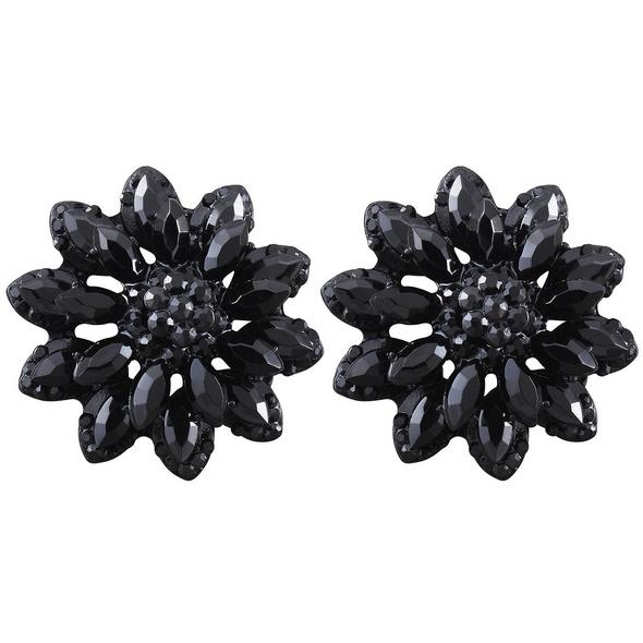 Ohrstecker - Black Flower