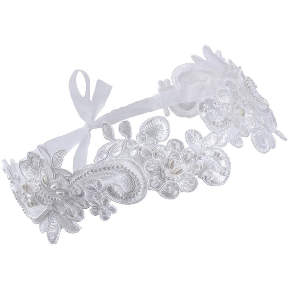 Haarband - White Pearl