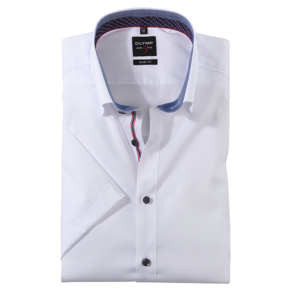 OLYMP Level Five Halbarmhemd, body fit, Under-Button-down