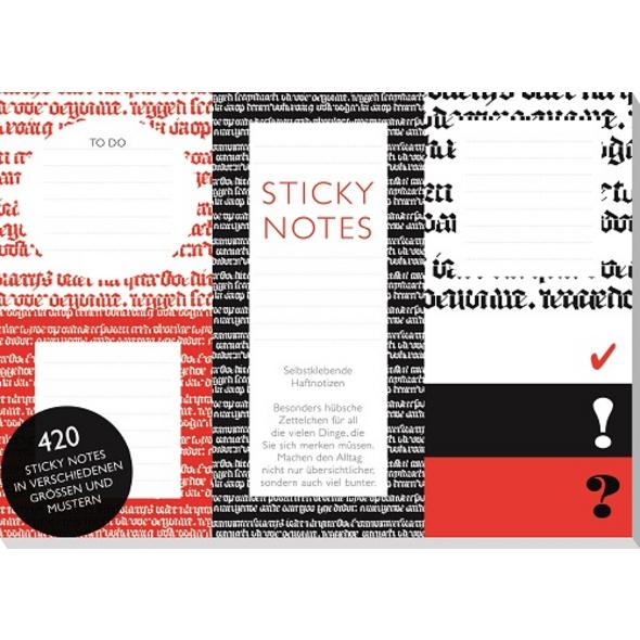 Hugendubel sticky notes schwarz-rot