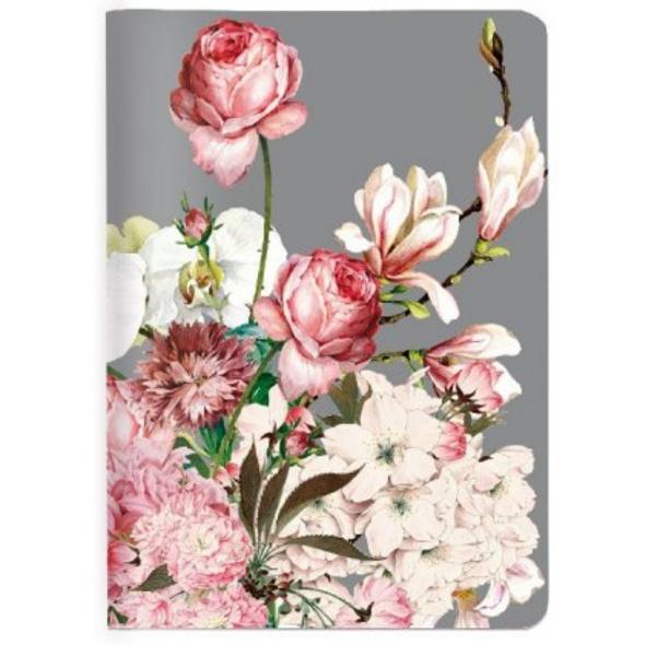 Heft A6 kariert, Bouquet rose