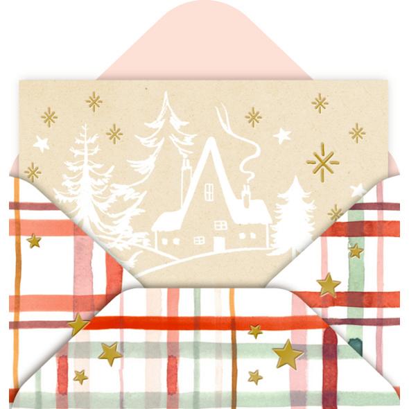 Mini-Briefchen Weihnachtliche Grüße  9 x 8 Ex.