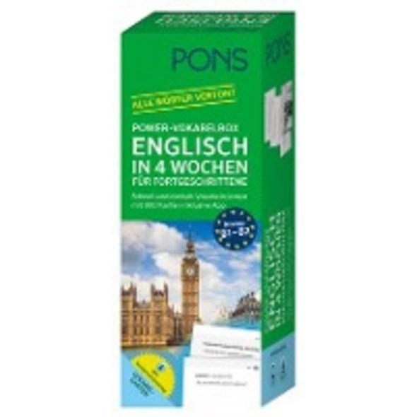 PONS Power-Vokabelbox Englisch in 4 Wochen für For