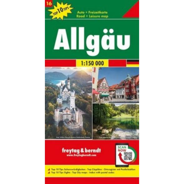 Allgäu, Autokarte 1:150.000, Top 10 Tips, Blatt 16