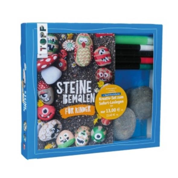 Kreativ-Set Steine bemalen für Kinder  Buch   Mate