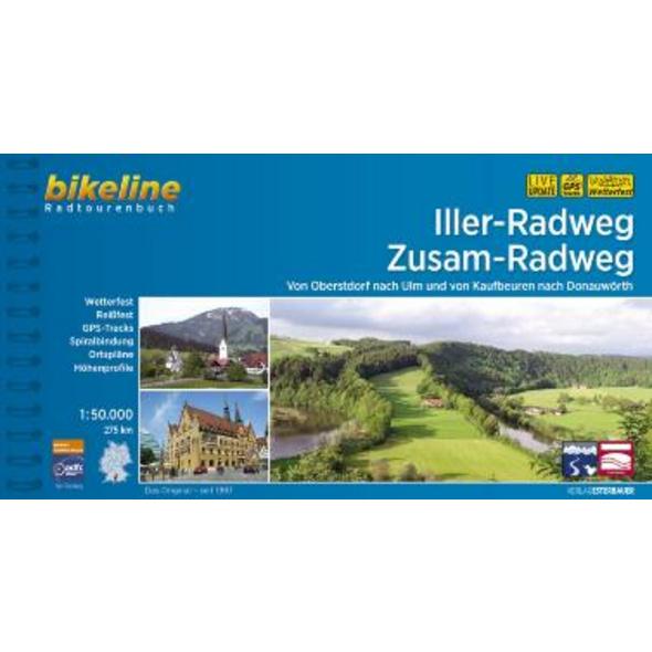Iller-Radweg . Zusam-Radweg 1 : 50.000