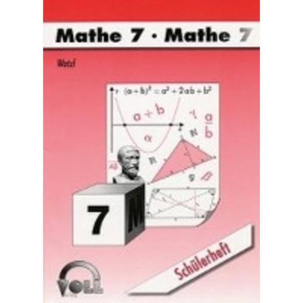 Watzl, C: Schülerheft Mathe 7