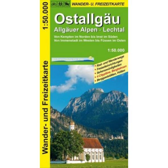 Ostallgäu, Allgäuer Alpen, Lechtal 1:50.000 Wander