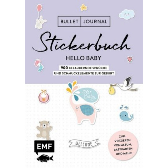 Bullet Journal - Stickerbuch Hello Baby: 750 bezau