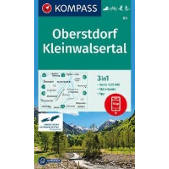 KOMPASS Wanderkarte Oberstdorf, Kleinwalsertal 1:2