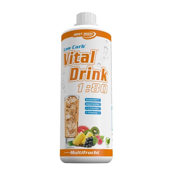Best Body Nutrition Low Carb Vital Drink 1000ml-Kiwi-Stachelbeere