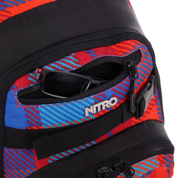 Nitro Rucksack Chase 35l plaid red blue