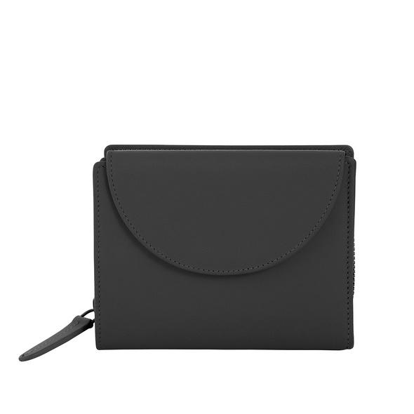 Klatta Portmonee Damen Flap Wallet schwarz