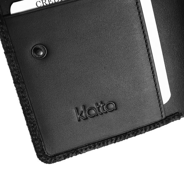Klatta Hochkantbörse Damen Wallet Small Zip offwhite paper