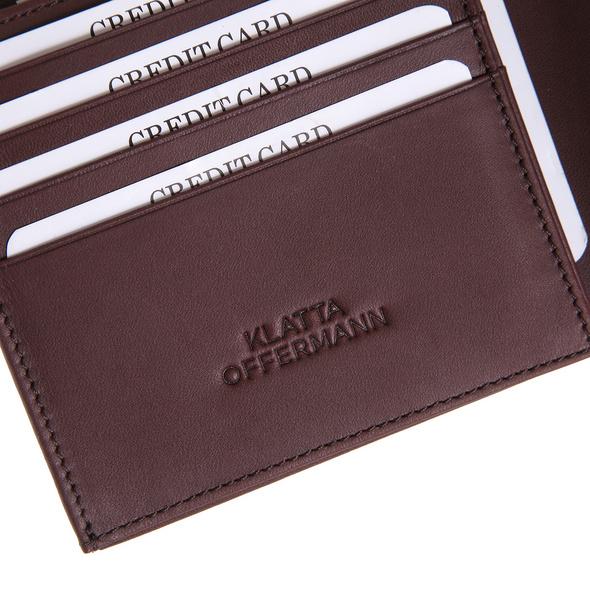 Klatta Offermann Geldbörse Herren Button Trifold maroon brown