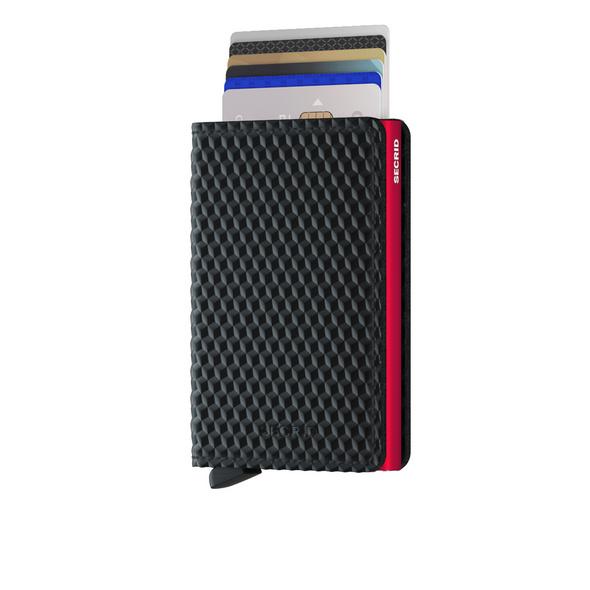 Secrid Kreditkartenetui Slimwallet cubic black-red