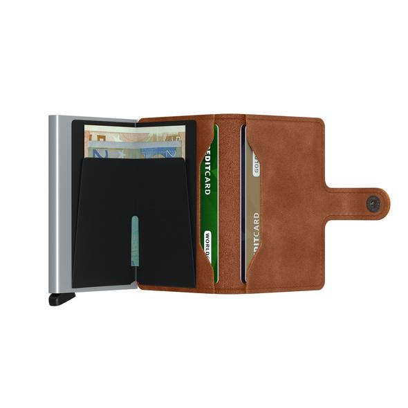 Secrid Kreditkartenetui Miniwallet vintage cognac silver