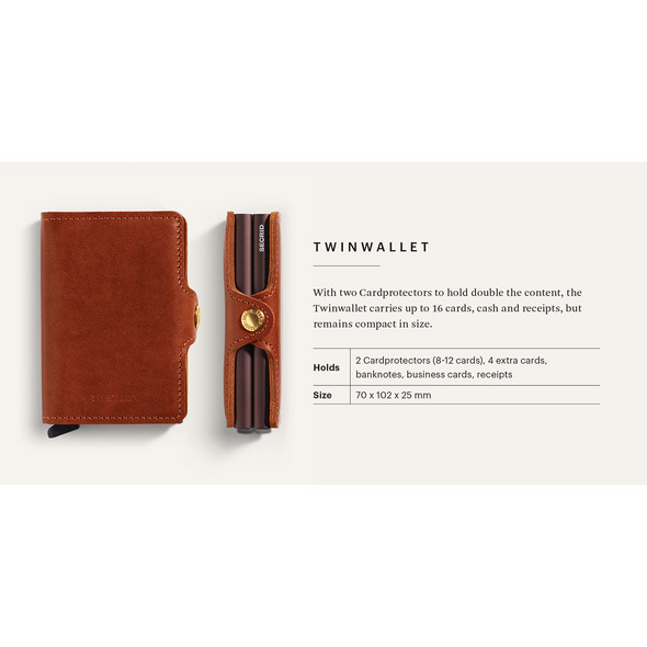 Secrid Kreditkartenetui Twinwallet original cognac-brown
