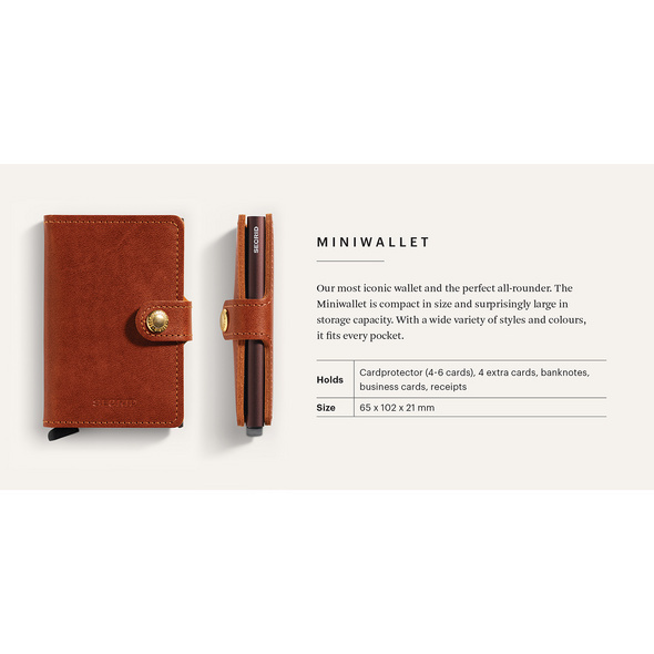 Secrid Kreditkartenetui Miniwallet vegetable tanned espresso brown