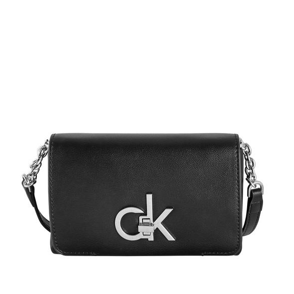 Calvin Klein Umhängetasche Re-Lock-Flap Crossbody SM black