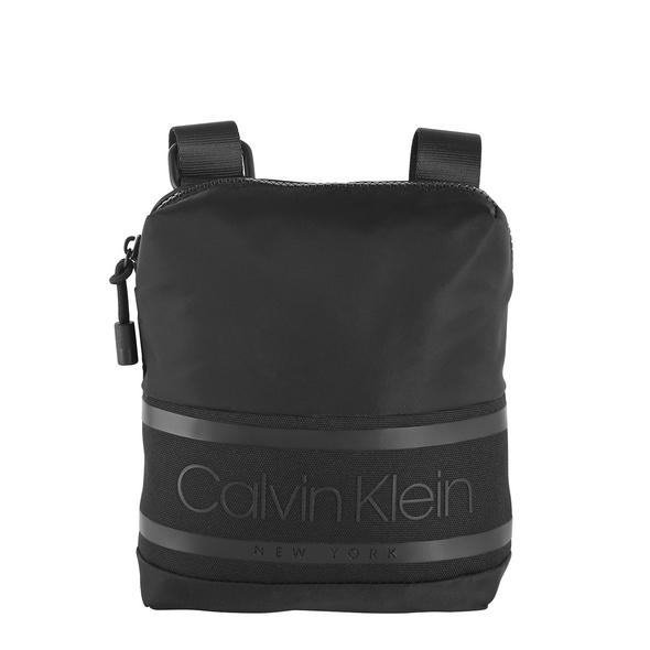 Calvin Klein Umhängetasche Striped Logo Mini Reporter black