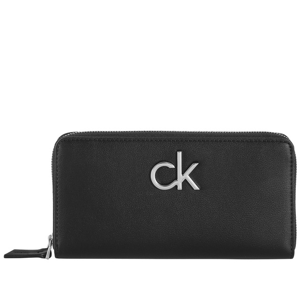 Calvin Klein Langbörse Damen Re-Lock Ziparound Wallet LG black