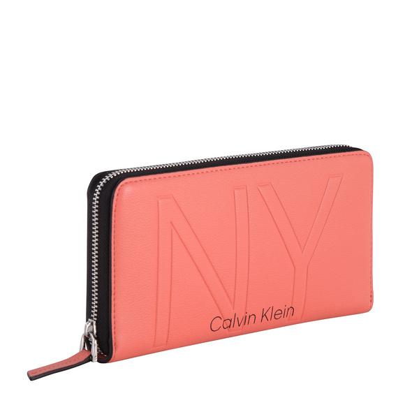Calvin Klein Langbörse Damen NY Shaped Ziparound Wallet LG black