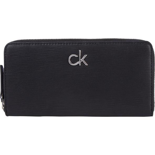 Calvin Klein Querbörse Damen Z/A Wallet LG Wave PU schwarz